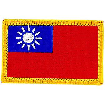 Patch Ecusson Brode Flag Taiwan Thermocollant Insignble