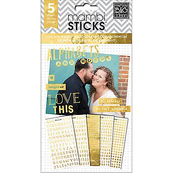 Me & My Big Ideas Pocket Pages Clear Stickers 6 Sheets/Pkg-Alpha Words - Hey Girl PPS-27