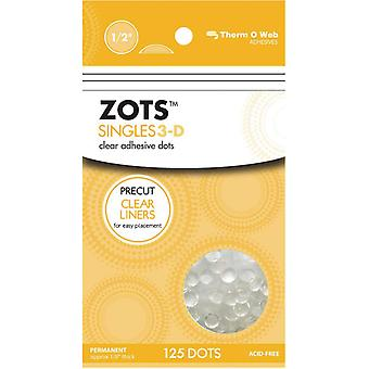 Zots Singles Clear Adhesive Dots 3 D 1 2