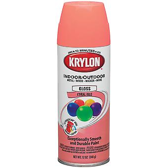 Indoor Outdoor Aerosol Paint 12 Ounces Gloss Coral Isle 1000A4 52103