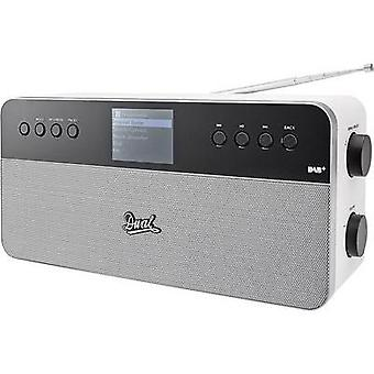 Internet Table top radio Dual IR 6S Plus AUX, DAB+, Internet radio, FM Spotify White, Silver