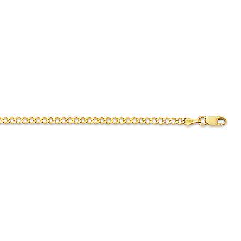 14k Yellow Gold 2.60mm Shiny Curb Type Chain Anklet With Lobster Clasp - 2.3 Grams - 10 Inch