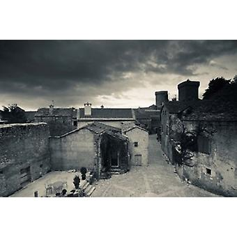 Blick auf die erhöhten Stadt von der Stadtmauer Millau Aveyron Midi-Pyrenäen Frankreich Poster Print von Panorama-Aufnahmen (36 x 24)