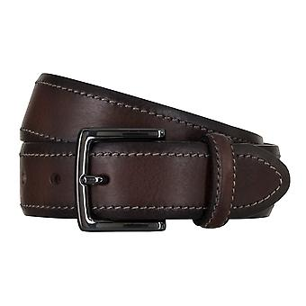 SAKLANI & FRIESE belts men's belts leather belt Brown 5030