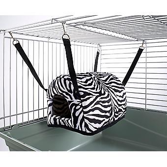 Little Friends Cuddle Up Rat Chinchilla Igloo Zebra Print