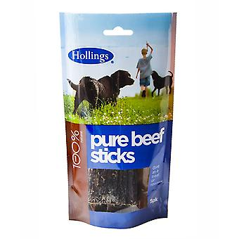 Hollings Pure Beef Sticks 5pk (Pack of 15)