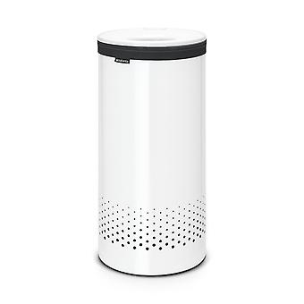Brabantia Laundry Bin with White Plastic Lid 35L