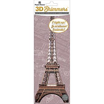 Paper House LED Shimmers Embellishment-Eiffel Tower EMB0061E