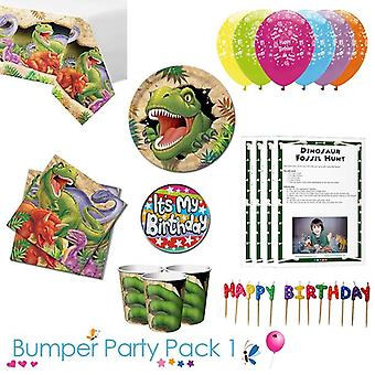 Dino Blast Party Tableware Bumper Pack 1
