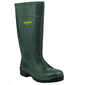 Ambers Safety Mens Green Slip On Fastening PVC Sole Waterproof Wellingtons Boots 48