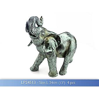 Elephant Hand Finished Metallic Sculpture Leonardo Collection