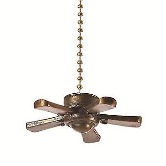 Three Dimensional Ceiling Fan Decorative Fan Light Pull