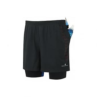 Men's Infinity Fuel Twin Shorts Black/Red