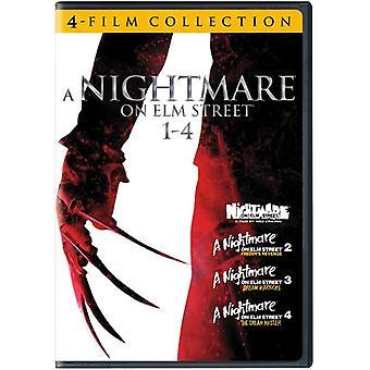 Terror på Elm Street 1-4 [DVD] USA import