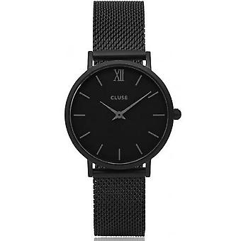 Watch Cluse midnight Mesh CL30011 - plated Milanese woman