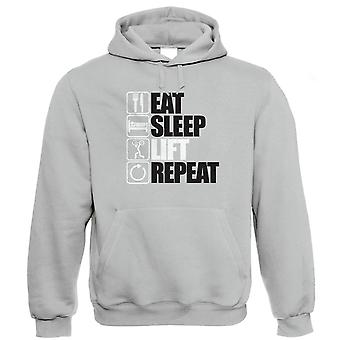 Vectorbomb, Eat Sleep Lift Repeat Hoodie (S to 5XL)