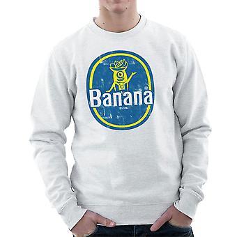 BANANAAAAAAA Minions Banana Sticker Stuart Men's Sweatshirt