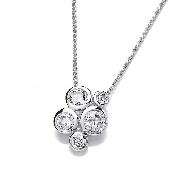 Cavendish French Sterling Silver Cubic Zirconia Bubble Cluster Pendant without Chain