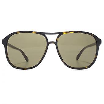 Gucci Vintage Pilot Sunglasses In Havana