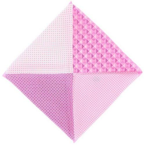 Michelsons of London 4 Way Patterned Silk Handkerchief - Light Pink