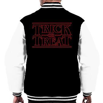 Stranger Things Treat Or Treat Men's Varsity Jacket