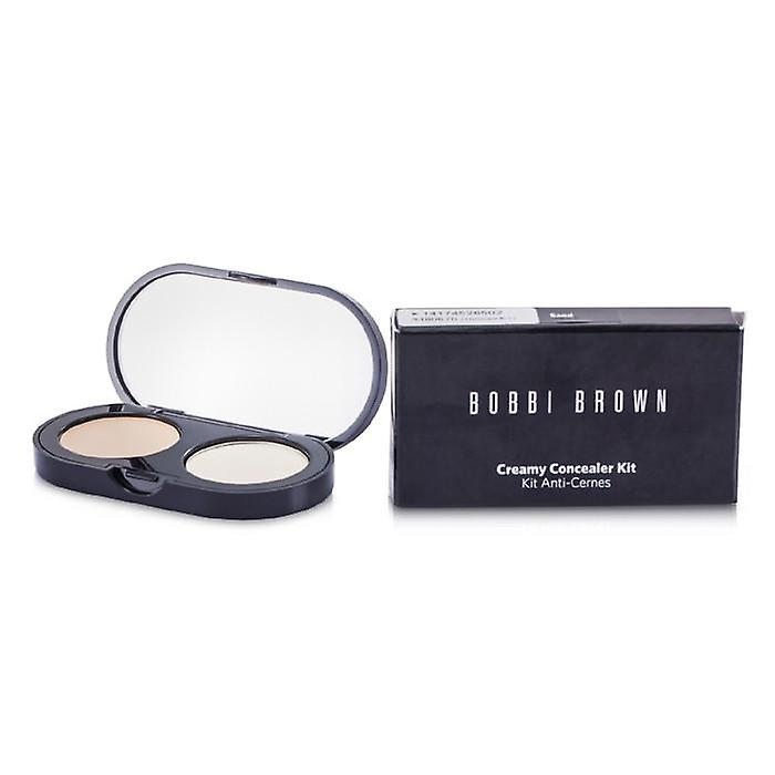 Bobbi Brown New Creamy Concealer Kit - Sand Creamy Concealer + Pale Yellow Sheer Finished Pressed Powder - 3.1g/0.11oz