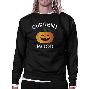 Abóbora atual humor negro rodada camisa de suor do pescoço para o Halloween