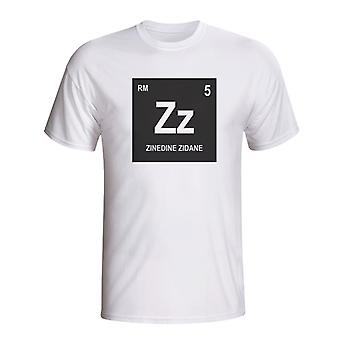 Zinedine Zidane Real Madrid Periodic Table T-Shirt (weiß)