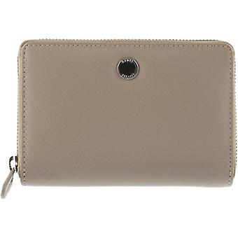 Dents Medium Smooth Leather Purse - Taupe