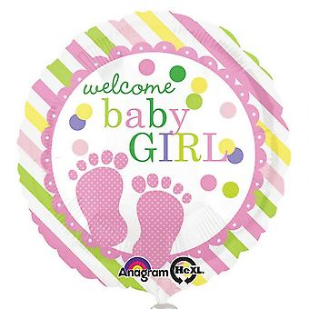 Amscan Welcome Baby Girl/Baby Boy Round Foil Balloon