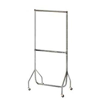 3'Chrome Extended Garment Rail.Chrome Extension Pieces & Centre Rail
