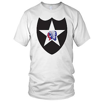 US Army 2nd Infantry Division Clean Ladies T Shirt