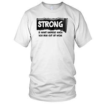 Sterk Is wat er gebeurt wanneer u van zwak - motivatie Training kinderen T Shirt uitvoert