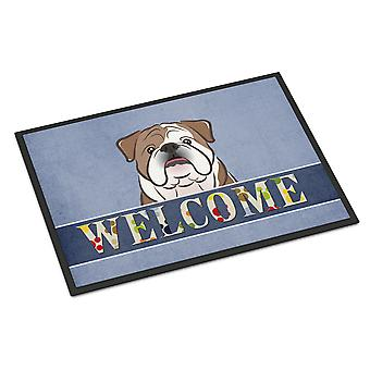 English Bulldog  Welcome Indoor or Outdoor Mat 24x36