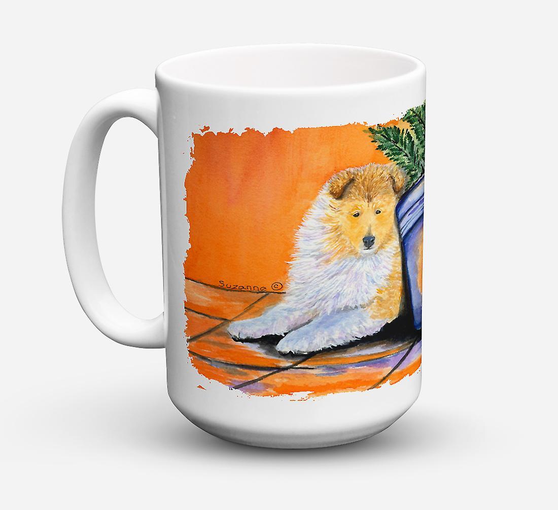 15 vaisselle Sûre Micro Pour Sheltie ondes Once Mug Céramique Coffee De Lave OPn0ZkXN8w