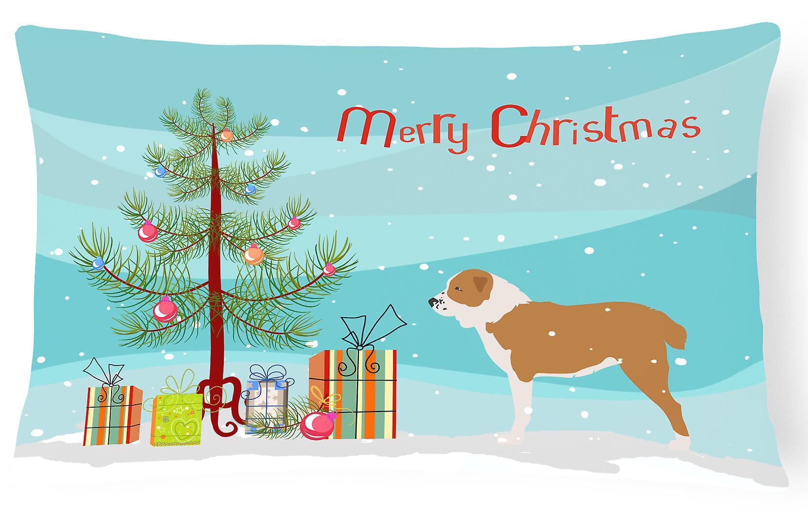 Décoratif Berger Tree Christmas Tissu Oreiller D'asie Centrale Toile Chien Merry doWCxBre