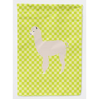 Carolines Treasures  BB7745CHF Alpaca Green Flag Canvas House Size