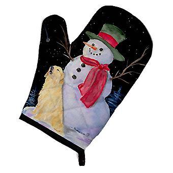 Каролинских сокровища SS8951OVMT снеговика с Золотой ретривер печь Mitt