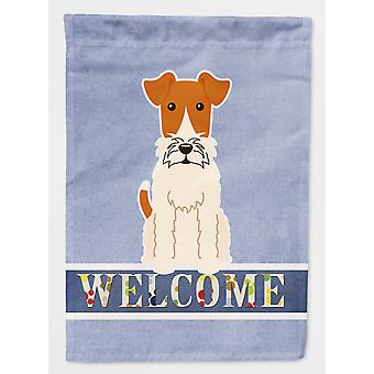 Carolines Treasures  BB5682GF Wire Fox Terrier Welcome Flag Garden Size