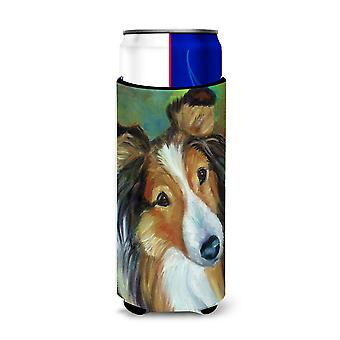 Sheltie Curiosity Michelob Ultra beverage Insulator for slim cans