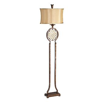 FE/MARCELLA/FL Marcella Bronze Floor Lamp with Shade