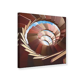 Escalera de caracol de libros impresión de lienzo