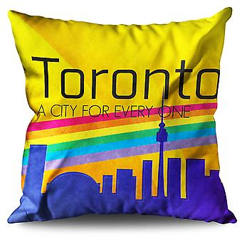 Pride Love Urban Toronto Linen Cushion Pride Love Urban Toronto | Wellcoda