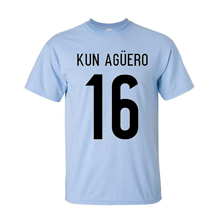Sergio Agüero Argentinien-Held-T-Shirt (Himmel)