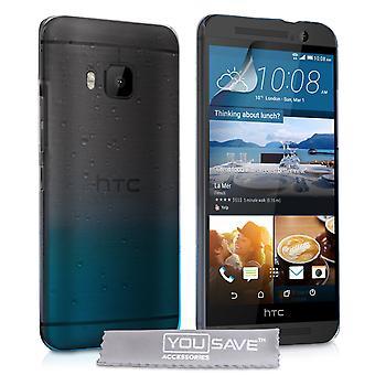 HTC M9 kropla deszczu twarde etui - Blue Clear