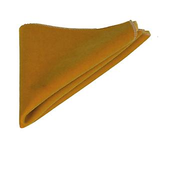 Luxury Dark Gold Velvet Pocket Square