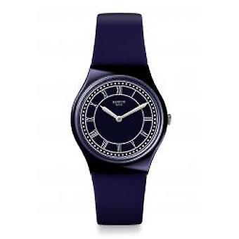 Staal blauw Ben Armbanduhr (GN254)