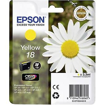 Epson Ink T1804, 18 Original Yellow C13T18044010