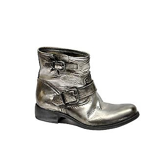 Strategia A3741HOPEUSSPRITZ ladies silver leather ankle boots