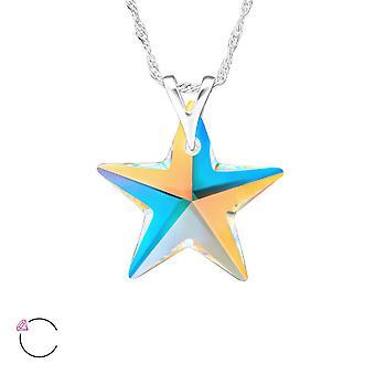 Star Crystal From Swarovski® - 925 Sterling Silver Necklaces - W29484x